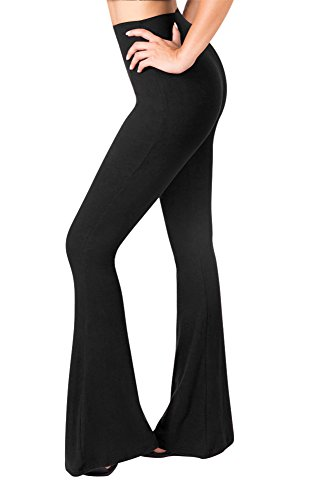 Sejora Satina High Waisted Flare Palazzo Wide Leg Pants ...