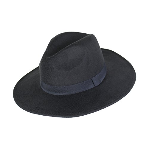 222fdf234de Elliott and Oliver Co. Vegan Wool Large Brim Panama Hat For Women- Winter  Boho Fedora ...