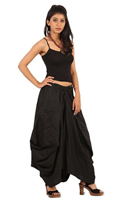 e1395ef1eb6 Womens Girls Cotton Ankle Length Casual Long Skirt - 2 Pockets - Balloon  Style